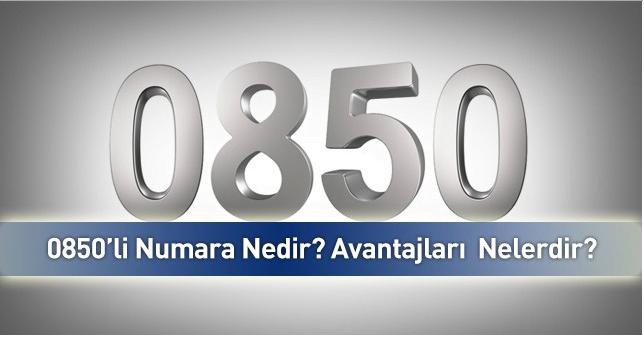 0850 numara